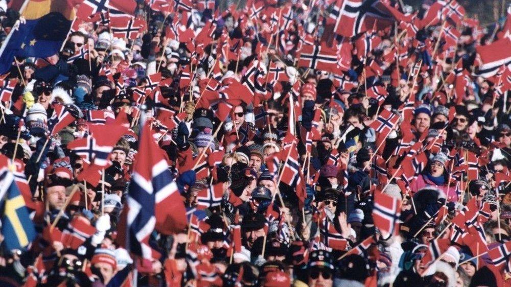 OL på Lillehammer 1994 Publikum langs løypa