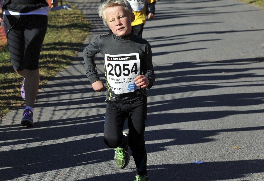 DEBUT: Sondre Olaussen løp Nøklevann Rundt for første gang lørdag. ALLE FOTO: SOLFRID THERESE NORDBAKK