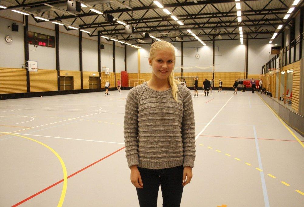 SCORET MÅL: Camilla Larsen er bare femten år, men markerte seg med både mål og målgivende i Slovakia.