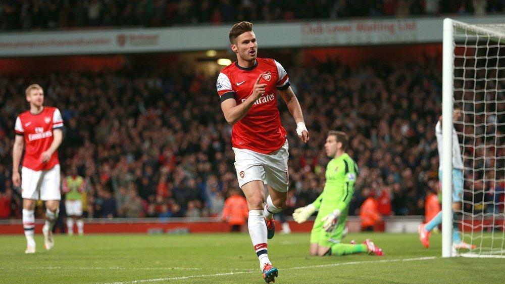 SUPERSCORING: Olivier Giroud hentet frem trylletriksene mot West Ham.