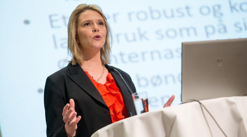 Landbruks- og matminister Sylvi Listhaug har lagt alt for lite penger på bordet, mener bondeorganisasjonene.