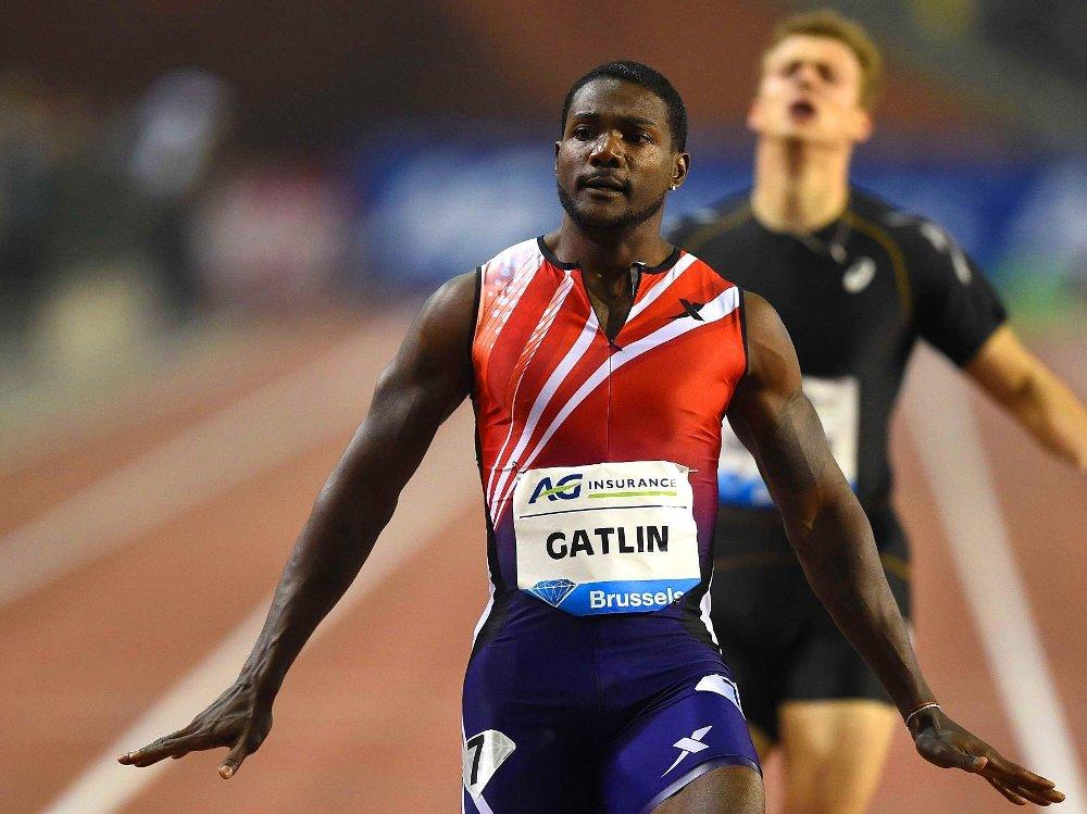 ALLTID FØRST: Amerikanske Justin Gatlin har kommet først til mål i samtlige på 100-meterløp han har stilt opp i.
