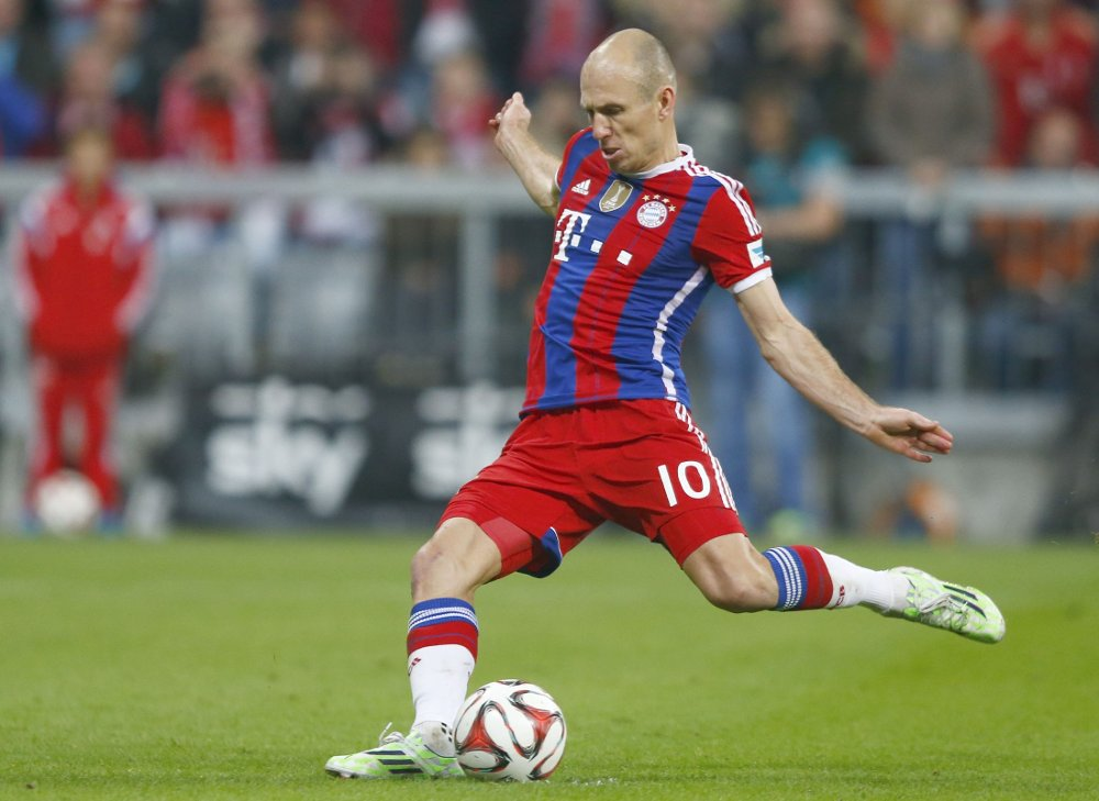 AVGJØRENDE: Arjen Robbens straffemål etter 85 minutter avgjorde kampen mot Borussia Dortmund.