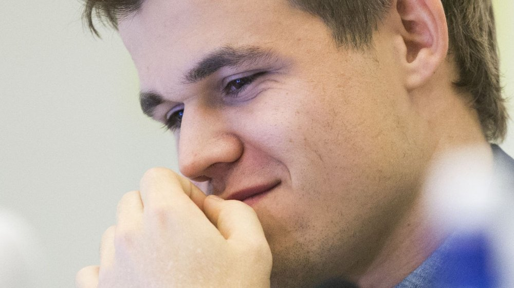 REMIS: Magnus Carlsen og Viswanathan Anand spilte remis fredag i femte partiet i VM.