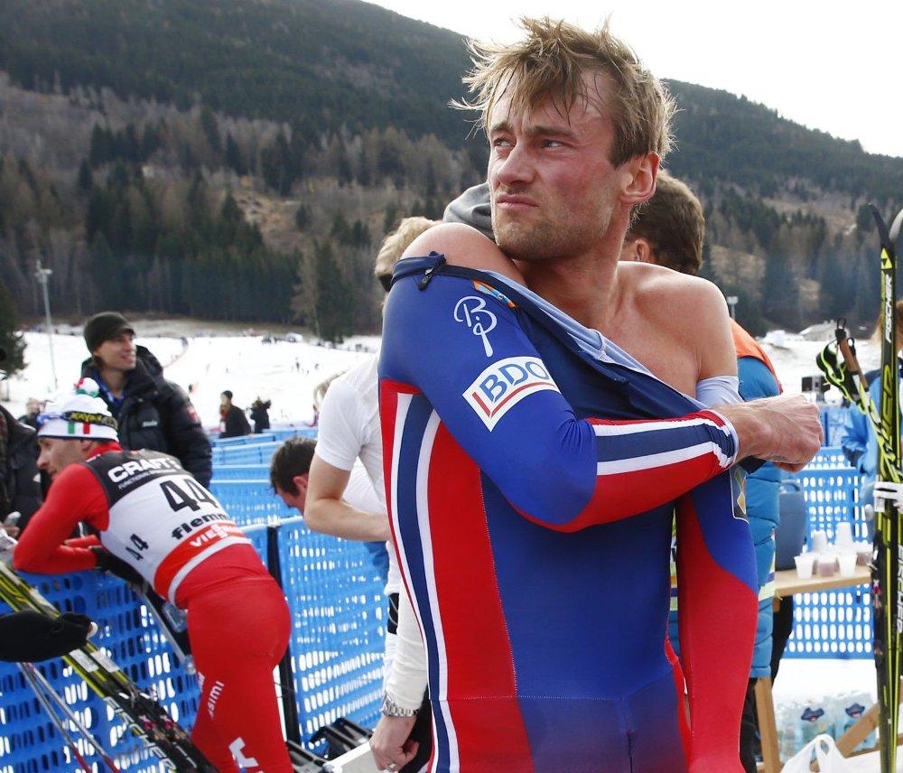 DTOPPER RENN: Skistjerne Petter Northug.