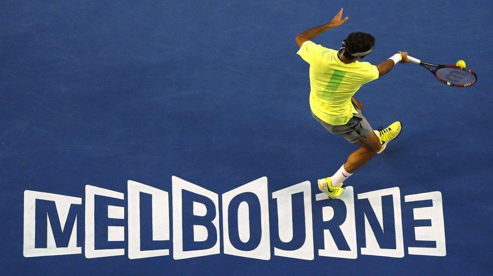 Roger Federer fikk en god start på Australian Open mandag.