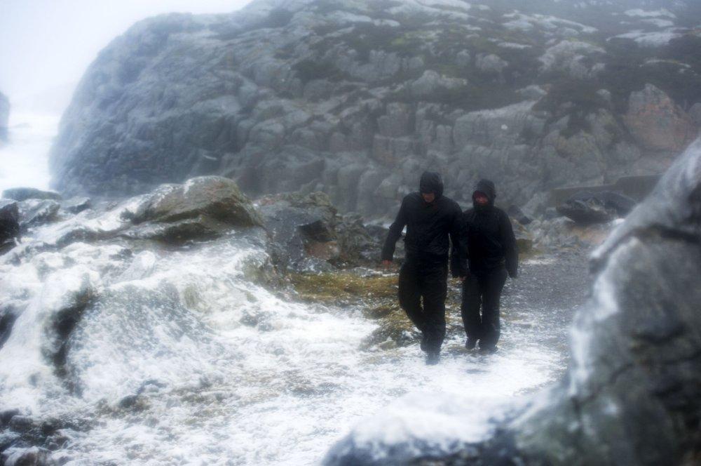 Ekstremværet Nina på vei inn fra Nordsjøen til Øygarden den 10. januar.