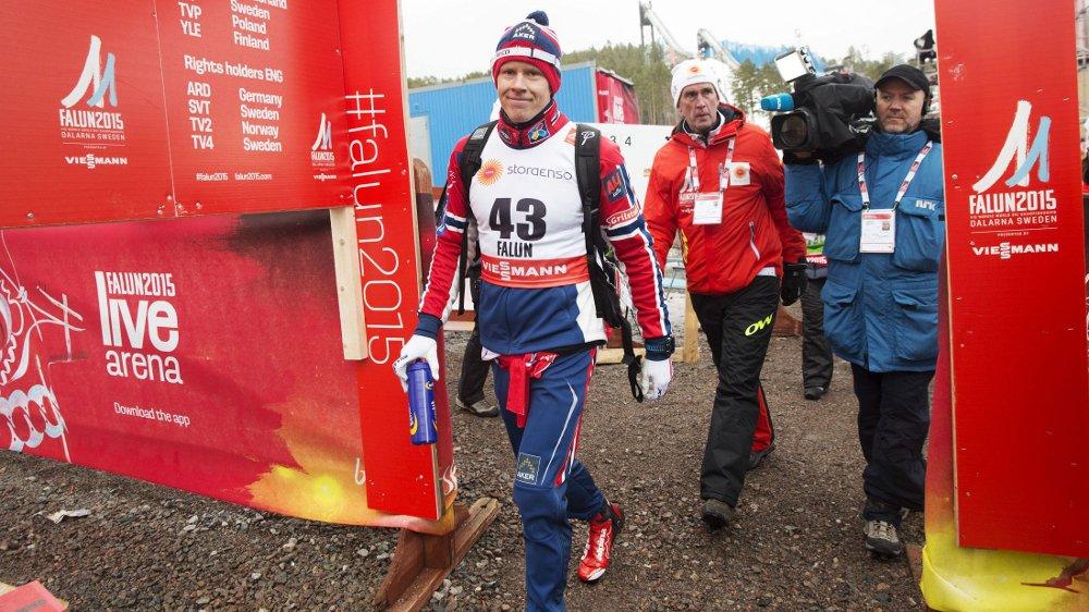 BRONSE: Anders Gløersen kunne smile for bronse på onsdagens 15-kilometer