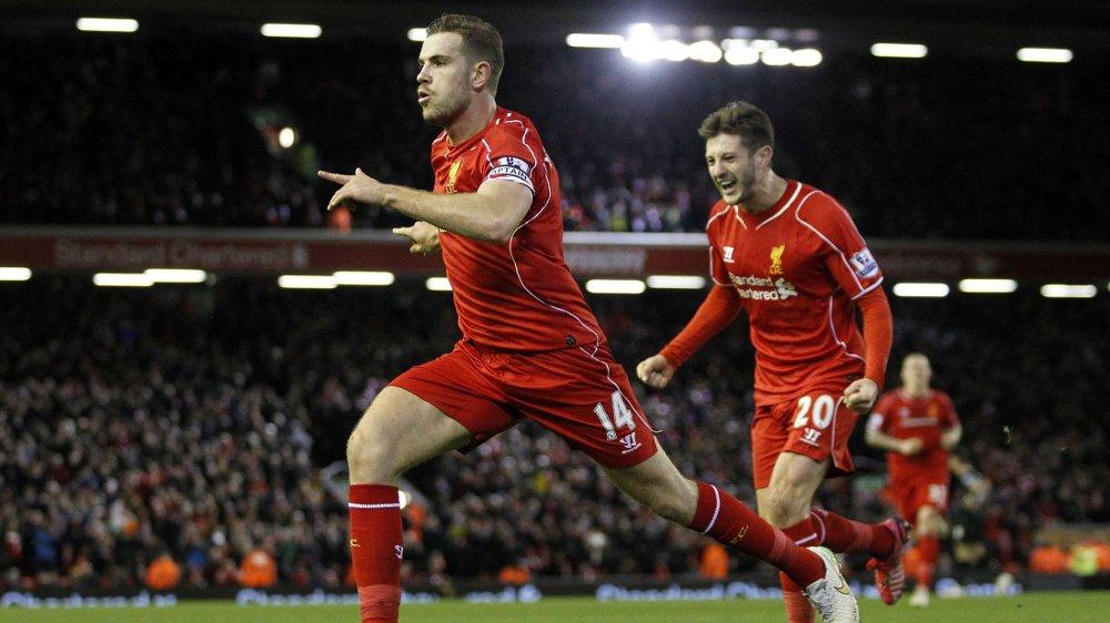 KANONSCORING: Liverpools Jordan Henderson klinket til og sendte hjemmelaget opp i føringen på Anfield onsdag kveld.