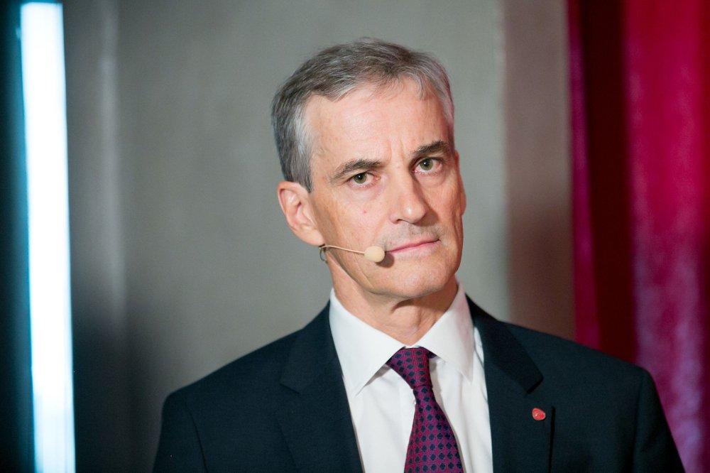 AP-LEDER: Jonas Gahr Støre under presselunsjen i forkant av Arbeiderpartiets landsmøte.