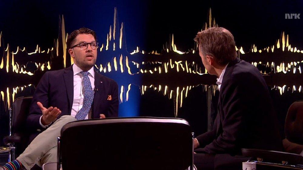 Jimmie Åkesson på skavlan-intervjuet.