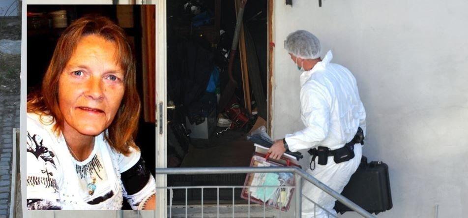 Politiet gikk sent mandag kveld inn med hund i leiligheten hvor de etterforsker et mistenkelig dødsfall. Kari Grønnestad har vært savnet siden 2012.