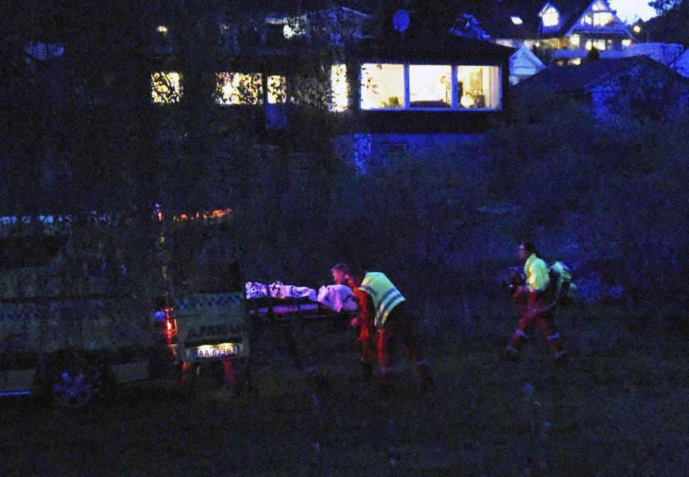 OMKOM: To menn falt i sjøen ved Isebakke i Halden søndag kveld. En av de to mennene døde, bekrefter politiet. Tilstanden til den andre mannen er ukjent. Foto: Presse Øst/ NTB scanpix