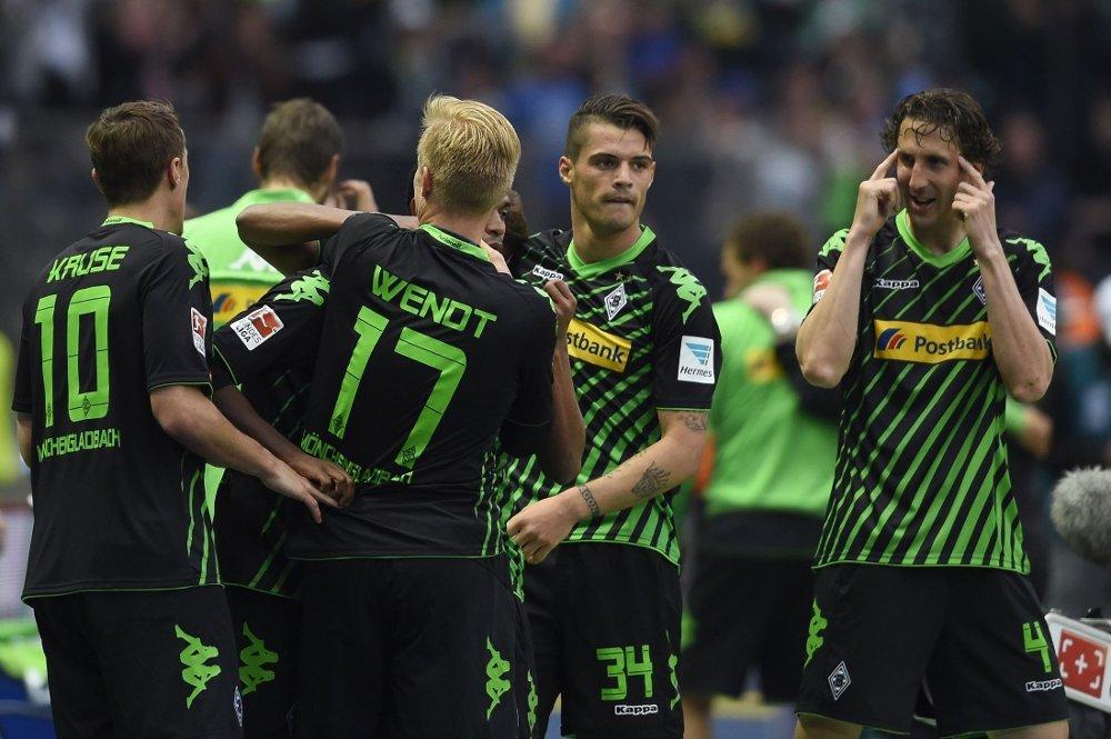 HENGER MED: Borussia Mönchengladbach tok en sterk borteseier mot Hertha Berlin og er dermed for alvor med i medaljekampen i Bundesligaen.