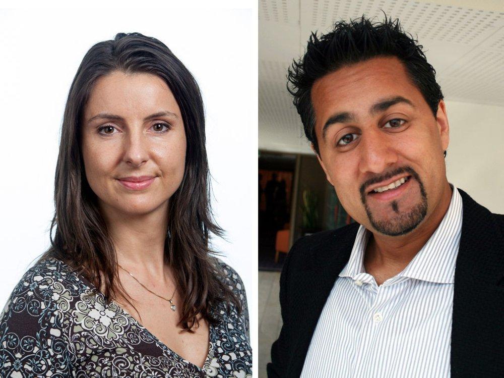 ADVARER: Stortingsrepresentantene Jenny Klinge (Sp) og Abid Q. Raja (V) forsvarer begge juryordningen.