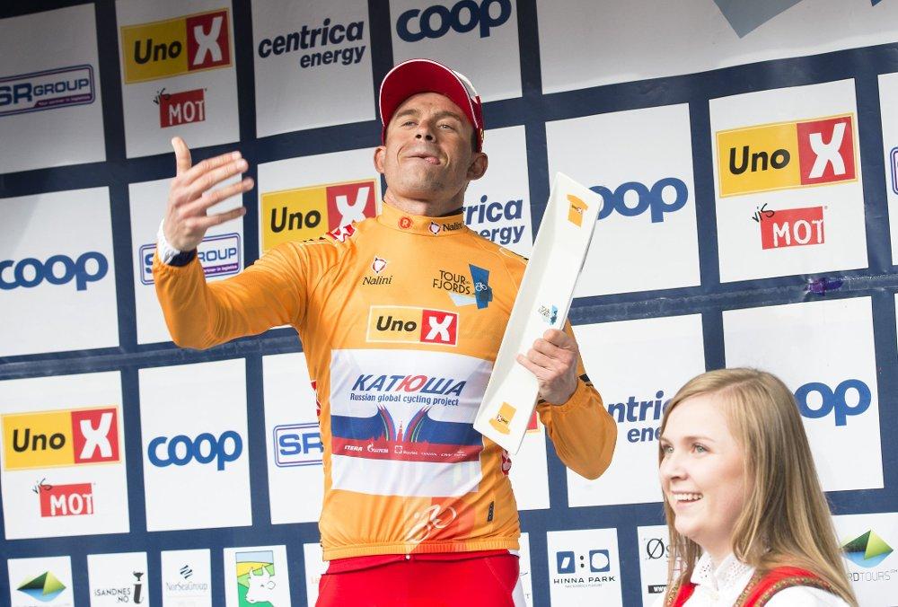 DOMINERER: Alexander Kristoff har den gule ledertrøyen etter i Tour des Fjords.
