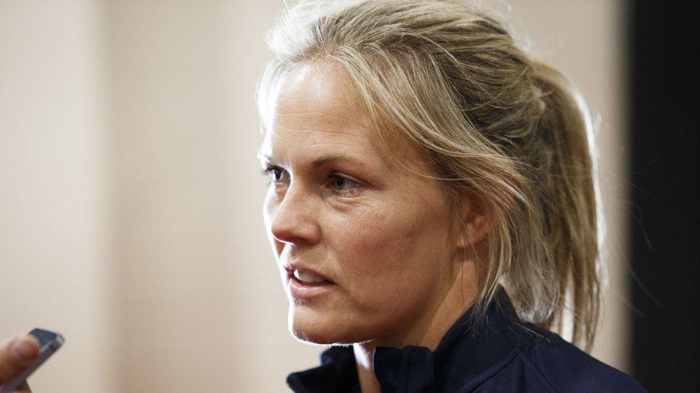 SPENT PÅ MOTSTANDEREN: Ingrid Hjelmseth.