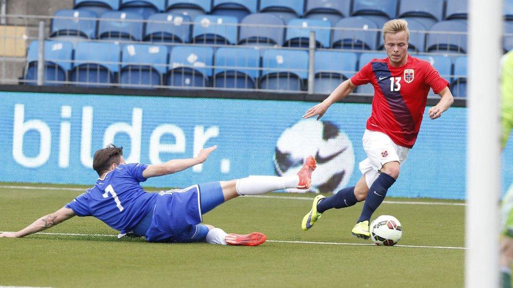 FRISKT INNHOPP: Sander Svendsen spilte godt etter at han kom inn, men kom ikke på scoringslisten denne gangen. Foto: Terje Bendiksby / NTB scanpix