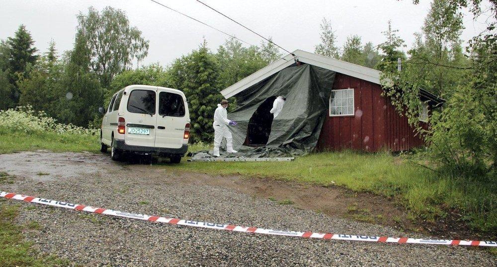 ÅSTED: Kvinnen ble funnet død i en bolig i Sandervegen i Sør-Odal.
