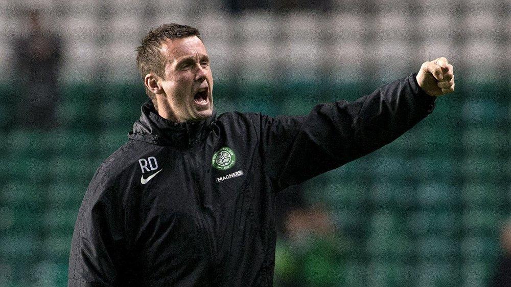 RONNY ROAR: Ronny Deila har etter hvert blitt kjent for sine seiersrop til Celtic-fansen.