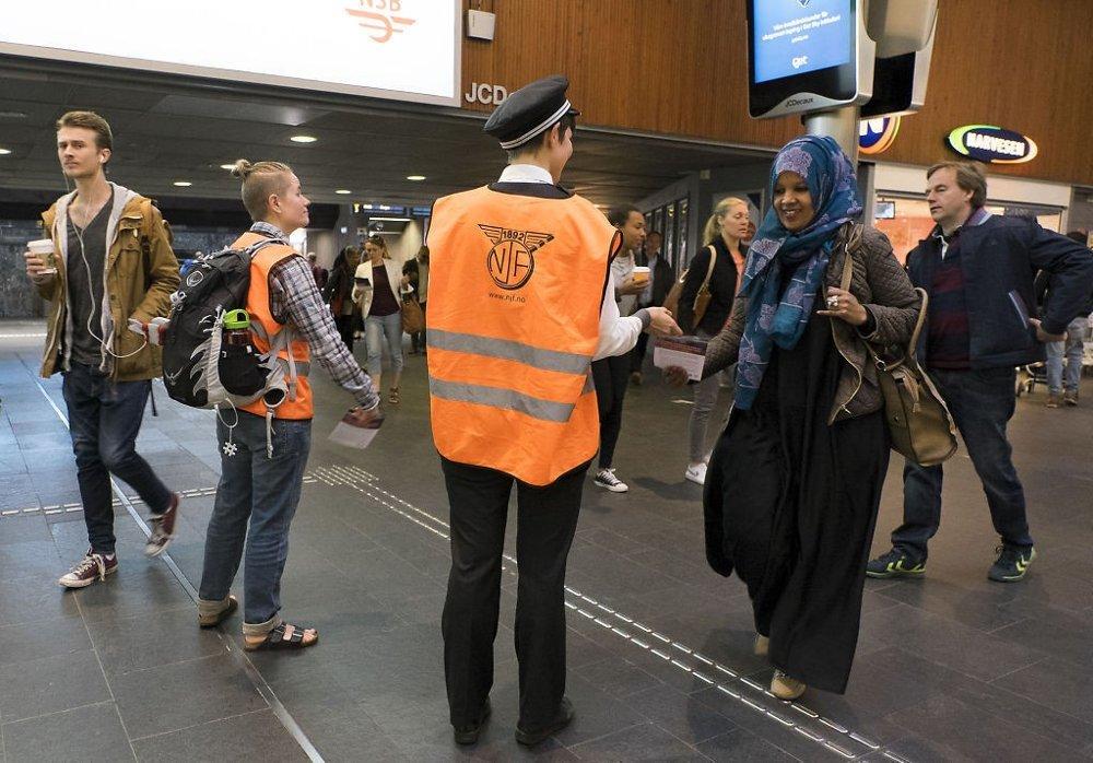 15. juni holdt norsk lokovotivmannsforbund og norsk jernbaneforbund en streik mellom kl 10 til 13. Foto: Torstein Bøe / NTB scanpix
