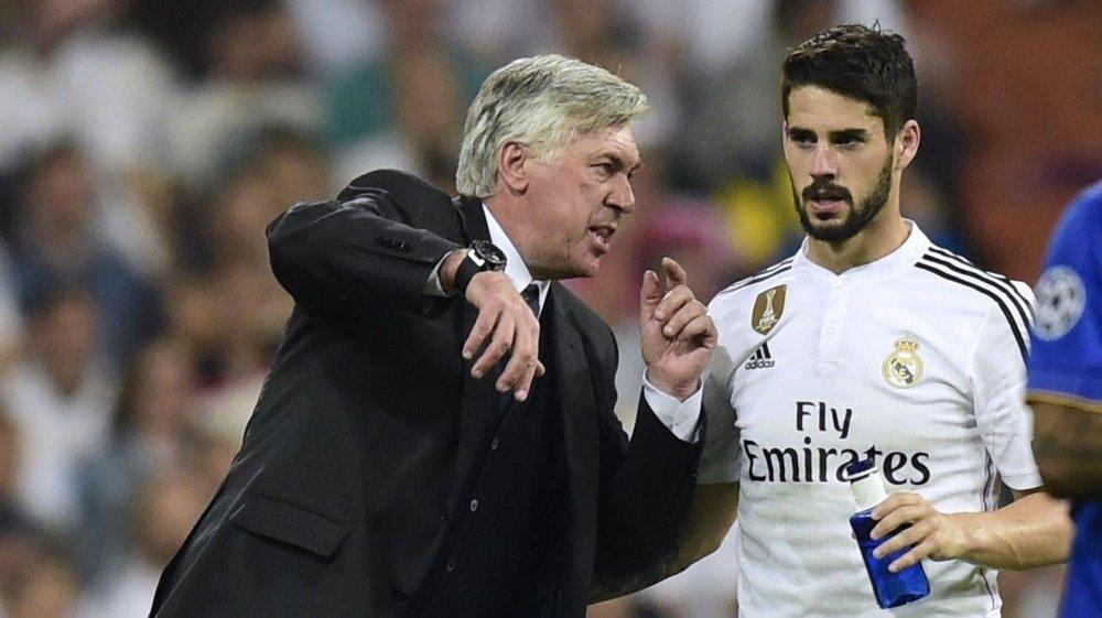BLIR: Carlo Ancelotti er ferdig, det betyr at Isco mest sannsynlig blir i Real Madrid. FOTO: NTB scanpix