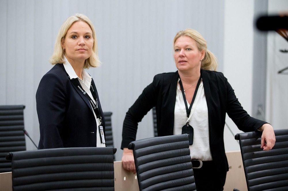 Politiadvokat i Økokrim Linn Eckhoff Dolva (til venstre) og førstestatsadvokat Marianne Djupsland (til høyre)