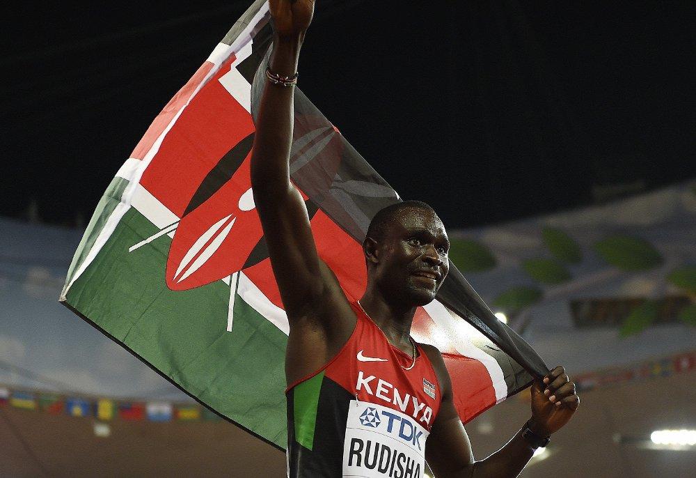 KAN UTESTENGES: David Rudisha er regjerende OL- og VM-mester på 800 meter, og har verdensrekorden på samme distanse. Dersom WADA får det som de vil, må Rudisha og hans landsmenn følge de neste friidrettsmesterskapene fra tribuneplass.