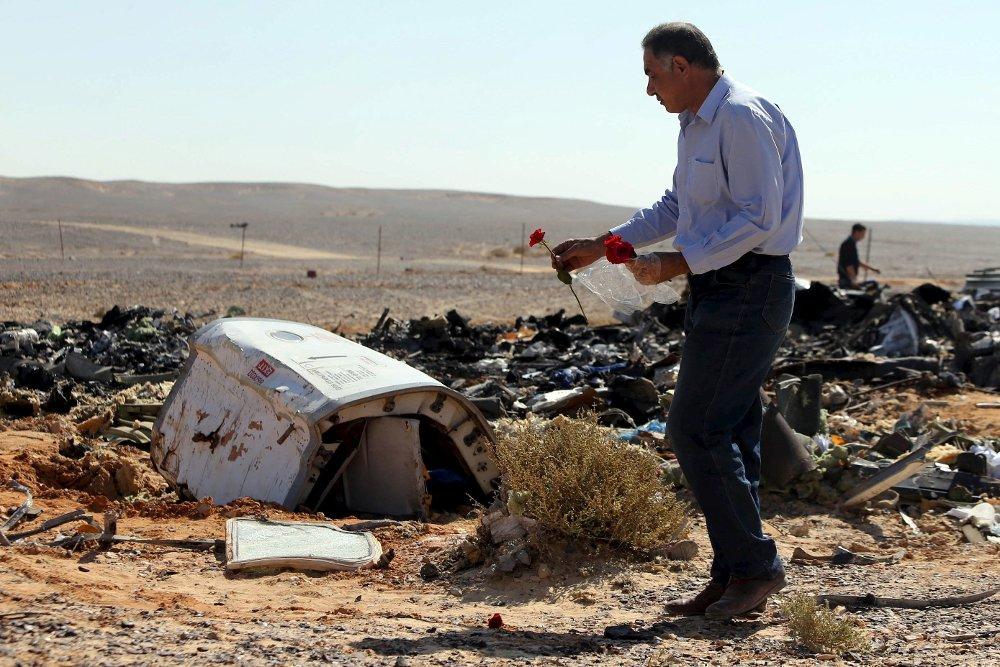 FLYSTYRT PÅ SINAI: 224 mennesker døde da et russisk charterfly styrtet på Sinaihalvøya i Egypt 31. august.