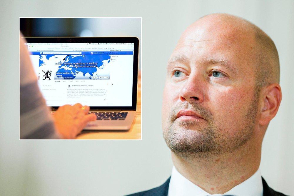 Justisdepartementet bruker Facebook for å skremme mennesker uten beskyttelsesbehov fra å søke asyl i Norge.