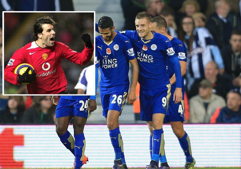 I KALASFORM: Jamie Vardy satte inn sitt 12. ligamål denne sesongen - i hans niende strake kamp - da Leicester slo Watford lørdag.