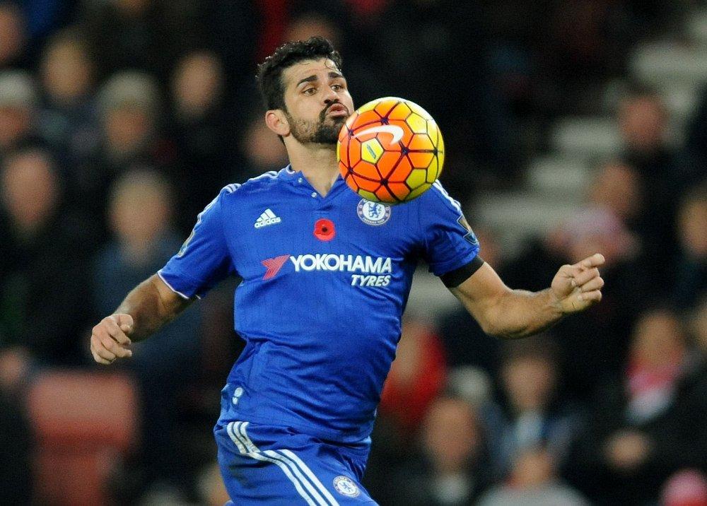 NY KONTROVERS? En sikkerhetsvakt på kampen mellom Stoke og Chelsea anklager Diego Costa for å ha overfalt ham.