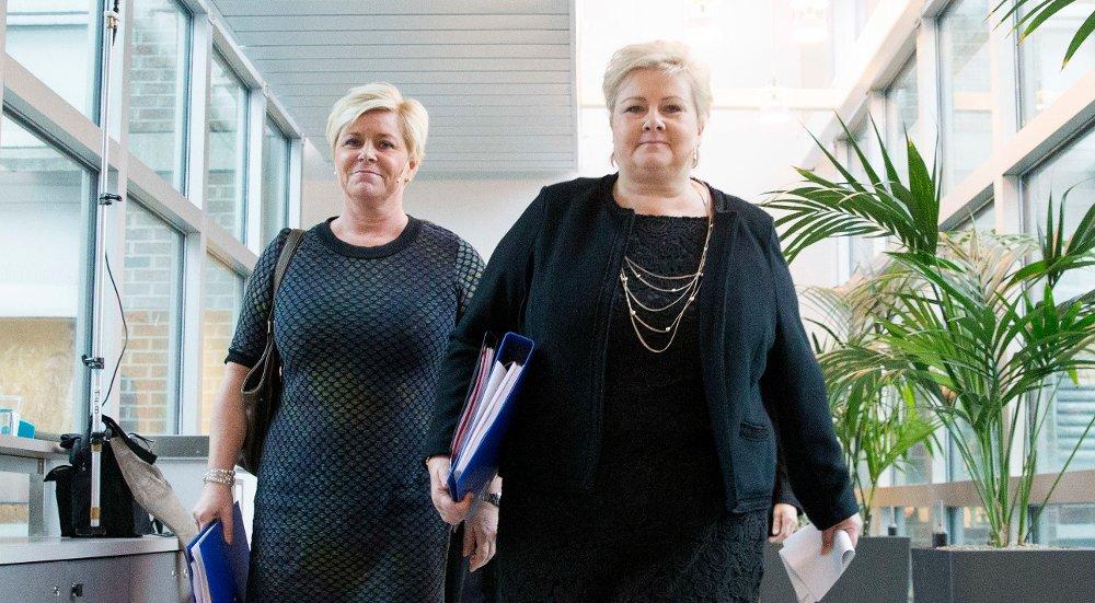 Statsminister Erna Solberg, her sammen med finansminister Siv Jensen, ønsker å samarbeide med Italia om Krekar.