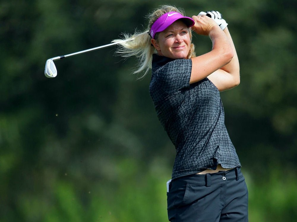 ÅTTE UNDER PAR: Men likevel langt bak de beste. Suzann Pettersen er ferdig med golfsesongen.