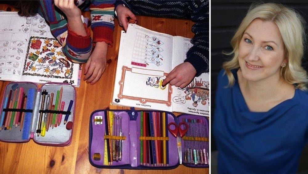 GOD ERFARING: Den svenske læreren Pernilla Alm oppdaget at elevene hennes totalt sett gjorde det bedre på skolen uten å ha hjemmelekser. Foto: Scanpix/Jens Alm