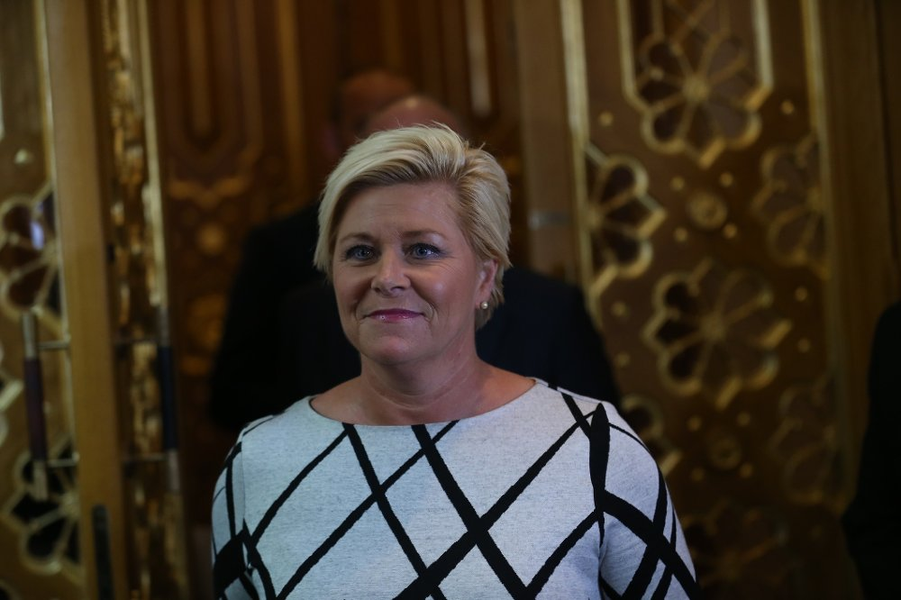 Siv Jensen har fått et budsjett å forholde seg til etter enigheten i budsjettforhandlingene.