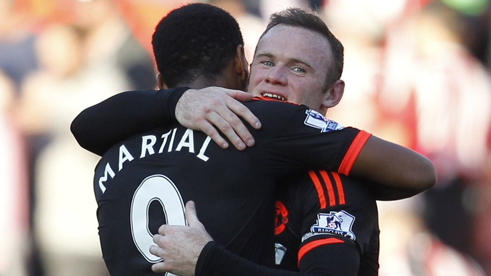 SUPERDUO: Både Anthony Martial og Wayne Rooney er klare til Champions League-oppgjøret mot PSV Eindhoven.