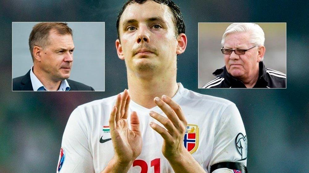 FÅR KRITIKK: Vegard Forren etterlyste sjefer etter tapet mot Ungarn. Kjetil Rekdal og Nils Arne Eggen rister på hodet.