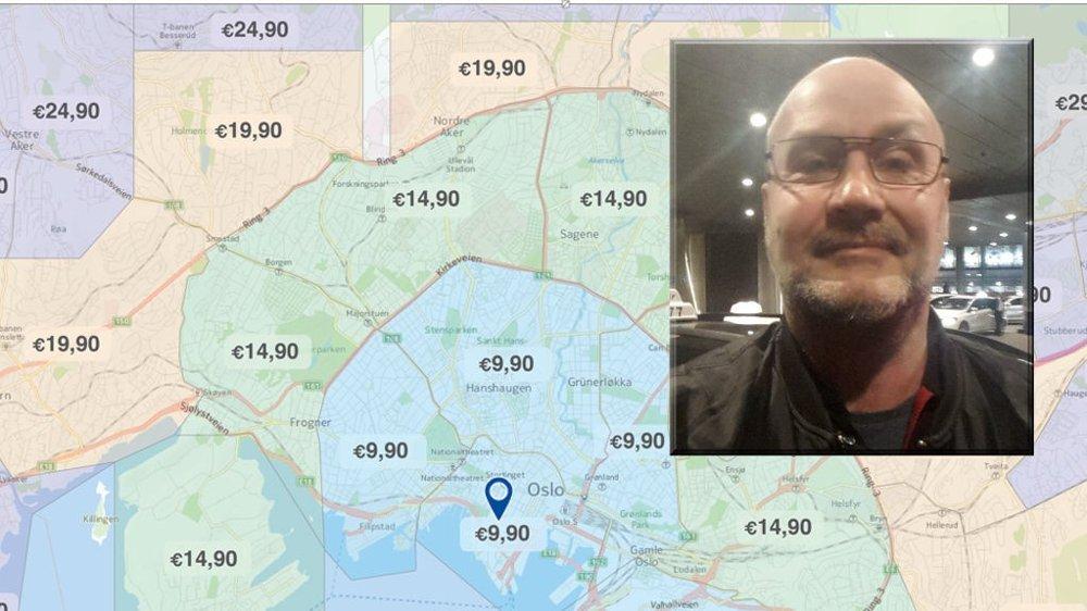 Oslo er verdens dyreste taxiby. Det ønsker Roger Dørum Pettersen å gjøre noe med, men uten løyv kan han ikke starte opp et billigkonsept der hovedstaden deles inn i 99 kronerssoner.
