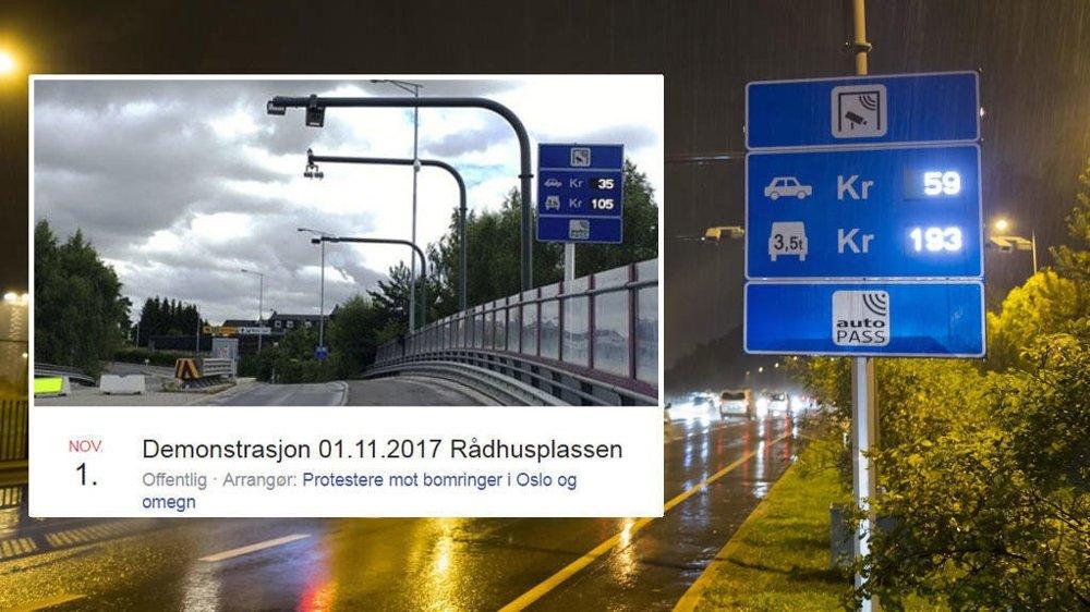 DEMONSTRERER: Onsdag ettermiddag blir det demonstrasjoner mot Oslo kommunes bompenge-politikk.