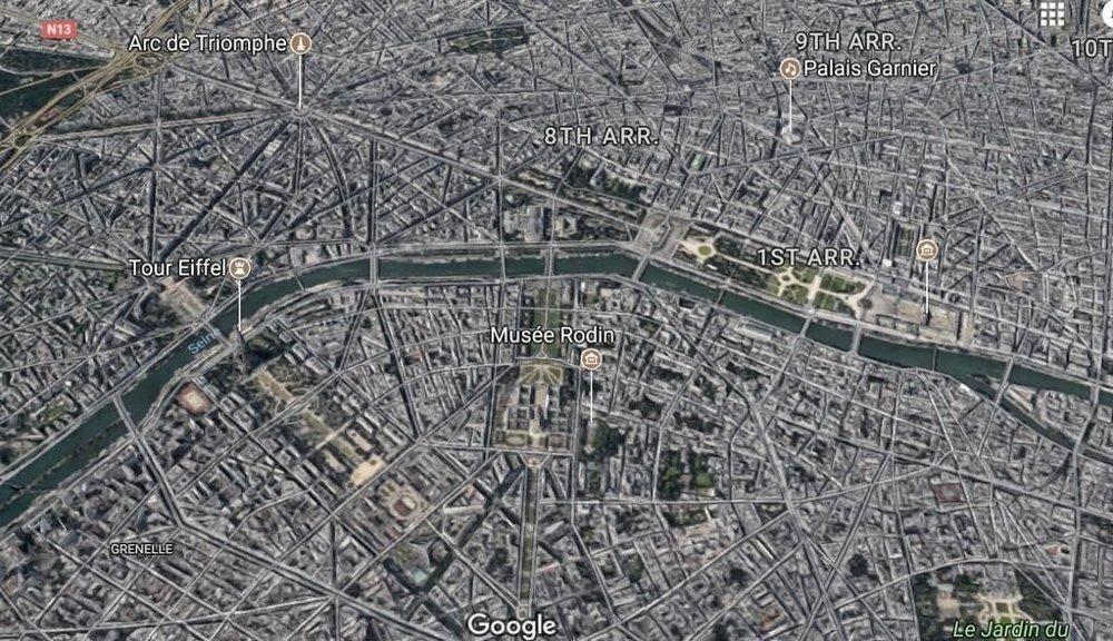 Illustrasjonsfoto: Deler av Paris sentrum.