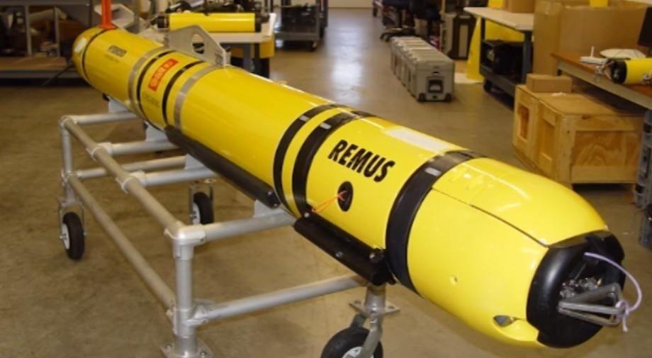 Kongsberg Maritimes undervannsrobot Remus 600 kan operere på opptil 1500 meters dyp i 24 timer. Roboten brukes både kommersielt, militært og i forskningsøyemed. Illustrasjonsfoto: Kongsberg Maritime.