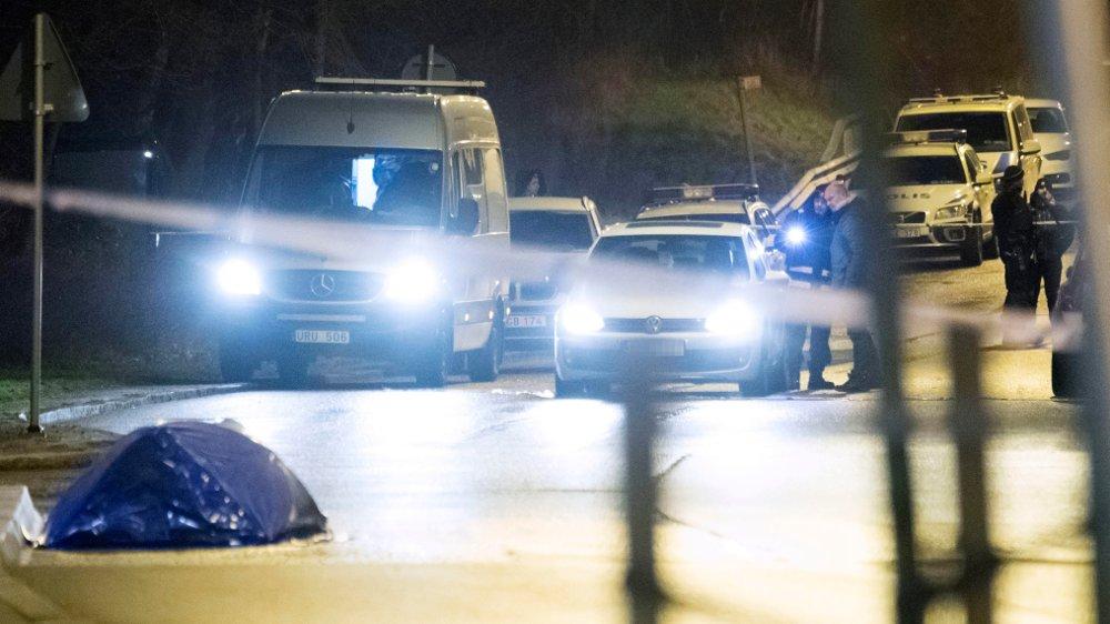 DREPT: En mann ble drept under skyting ved Närlundavägen i Helsingborg natten till lørdag.