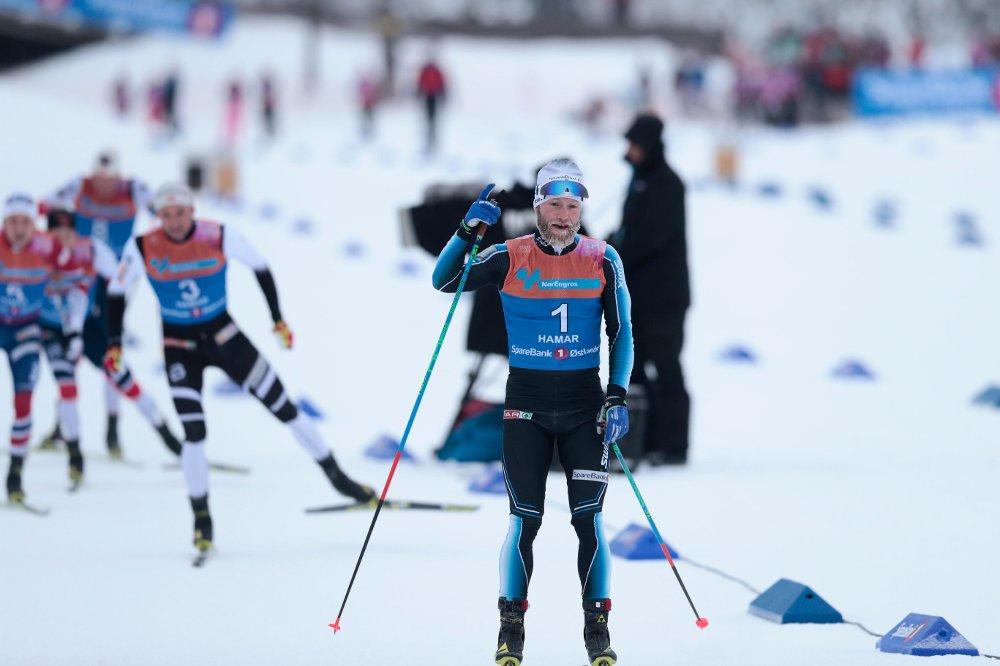 NM-GULL: Martin Johsnrud Sundby vant tremila i NM.