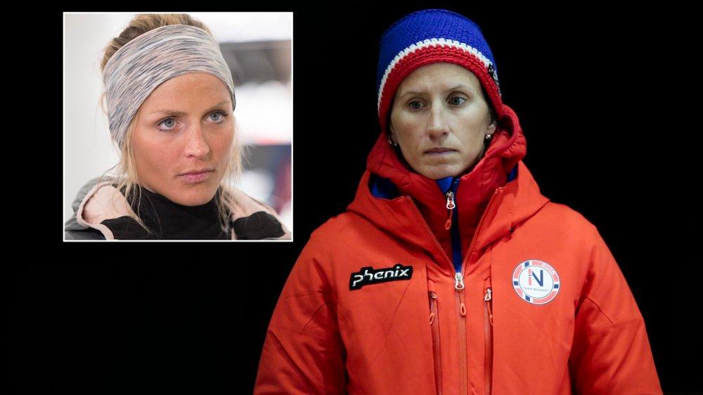 HAR KONTAKT: Marit Bjørgen har kontakt med Therese Johaug under OL.