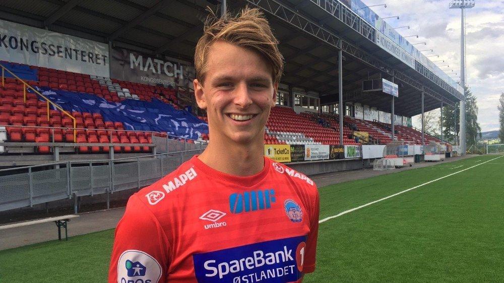 DØDE BRÅTT: Kongsvinger-spiller Adrian Lillebekk Ovlien er død.