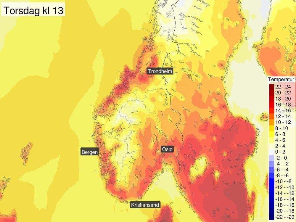VENTER VARME DAGER: Vil du ha mer vår og varme, er torsdagen dagen med best utsikter denne uka, i alle fall i Sør-Norge.