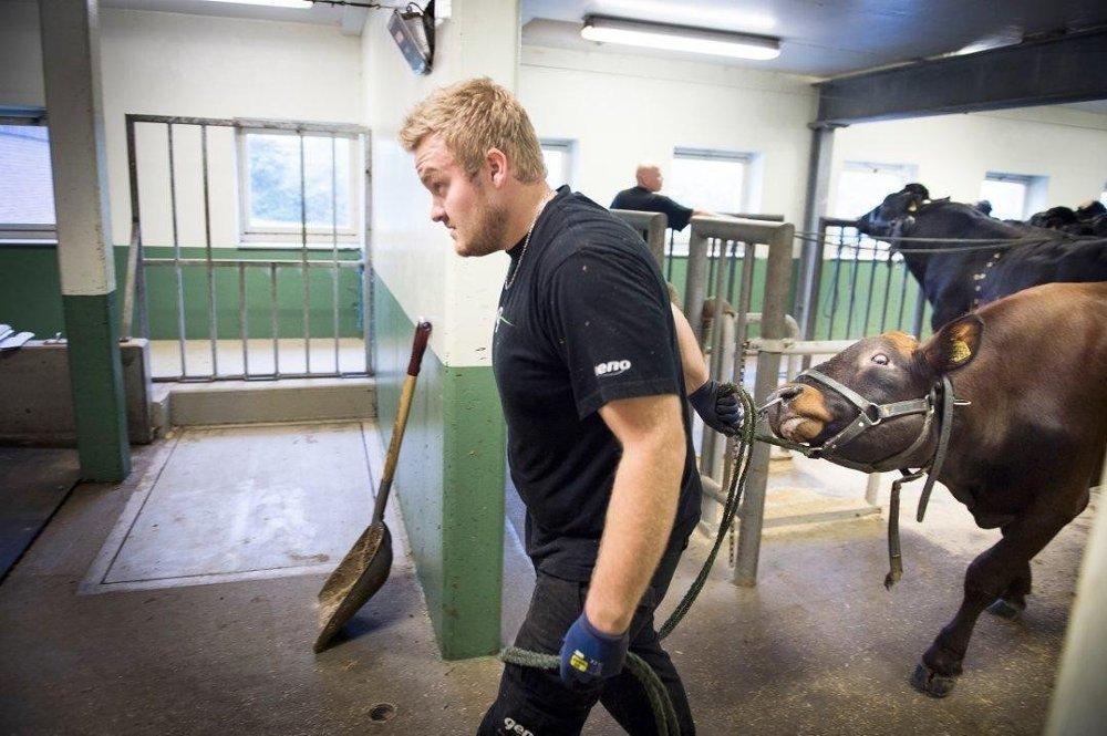 TRIVES: Røkter Marius Grinden stortrives med jobben, men syns lønna er for lav.