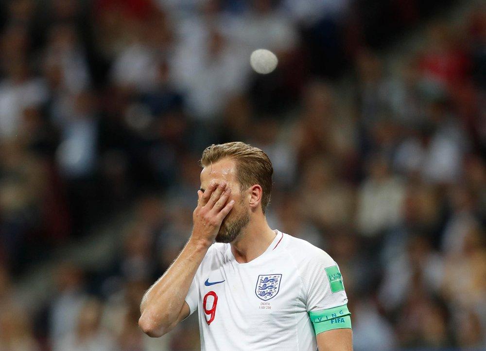 Forsøket på å nå England første VM-finale på 52 år endte med skuffelse for lagkaptein og storscorer Harry Kane. Foto: Alastair Grant, AP / NTB scanpix