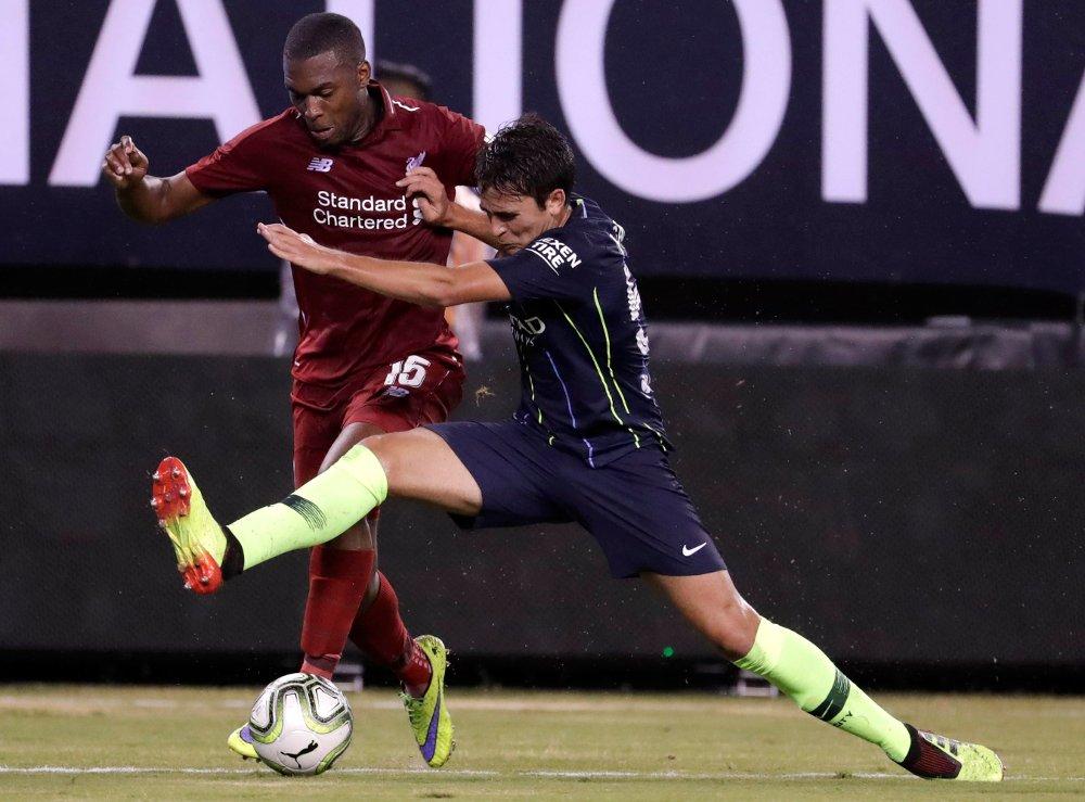 Daniel Sturridge satte inn en scoring i 3-1-seieren mot Torino. Her fra oppkjøringskampen mot Manchester City tidligere i sommer. Foto: Julio Cortez / AP / NTB scanpix